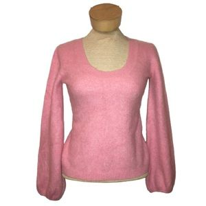 Old Navy Baby Pink Scoop Neck Cashmere Sweater M